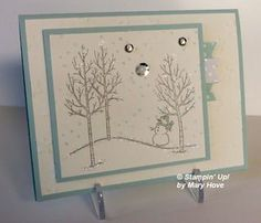 I found this card on LeeAnn Graff's site, card made by Mary Hove. Very fun card.