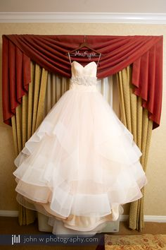 Absolutely beautiful shot of this pale pink wedding dress.
