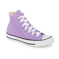 Women's Converse Chuck Taylor All Star 'seasonal' High Top Sneaker ($40) ❤ liked on Polyvore featuring shoes, sneakers, frozen lilac, star sneakers, lilac shoes, star shoes, high top sneakers and high top shoes