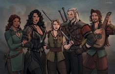 """Strange little Witcher family. Wanted to draw them as I imagine them Character Art, Character Design, The Witcher Game, Triss Merigold, Yennefer Of Vengerberg, Blood Elf, Best Pal, Dark Fantasy Art, Twitter"