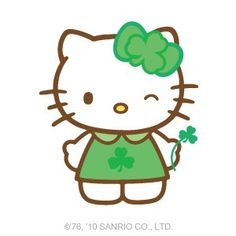 Hello Kitty added a new photo — with Barbaritha Sepúlveda Salinas and 34 others. Hello Kitty Art, Hello Kitty Tattoos, Hello Kitty Birthday, Sanrio Hello Kitty, Hello Kitty Pictures, Irish Girls, Hello Kitty Wallpaper, Happy St Patricks Day, Sanrio Characters