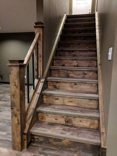 Home Renovation Rustic Basement Remodel Stair Makeover, Basement Makeover, Basement Renovations, Home Renovation, Home Remodeling, Basement Remodel Diy, Rustic Basement, Basement Stairs, Basement Ideas
