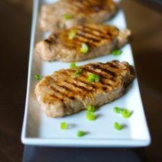 Lemon-Ginger Grilled Pork Chops HealthyAperture.com