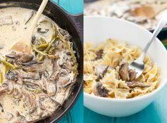 Portobello Mushroom Pasta with Cream Sauce #cream