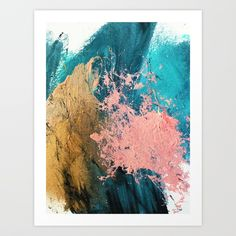 Coral Reef Colorful Abstract In Blue, Teal, Gold, And Pink Framed Art Print by Alyssa Hamilton Art - Conservation Natural - Coral Living Rooms, Coral Bedroom, Blue And Pink Living Room, Bedroom Turquoise, Teal Coral, Teal And Gold, Coral Reef Art, Pink Blue, Metal Tree Wall Art