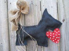 Dog+Burlap+Door+Hanger+Valentine+Day+by+nursejeanneg+on+Etsy,+$28.00