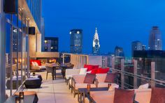 Best Rooftop Bars in NYC: Bar 54 at Hyatt Times Square