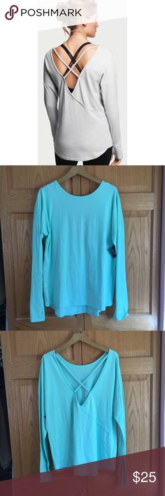 🆕 NWT Victoria's Secret Sport VSX Cross Back Top Amazing long sleeve tunic top from VSX Victoria's Secret Sport. Body wick fabric is perfect for working out! New and never worn. Sold out! ❌NO TRADES❌NO LOWBALL OFFERS❌ Victoria's Secret Tops Tees - Long Sleeve