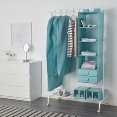 Whether you're heading to class or to the office, a long day of work is easier when you start your day right! The IKEA SKUBB organizer with six compartments makes closet organization easy!