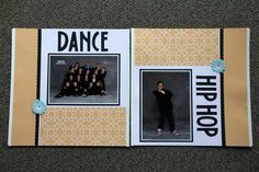 scrapebook layouts for dance | My Scrapbook Layouts / dance