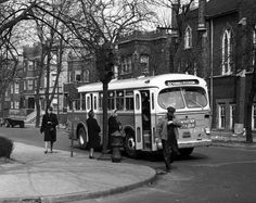 New ACF-Brill Bus  This new ACF-Brill Bus was one of many put into service in CTA's earliest days. This photo shows a bus on the #82 Kimball route, destined for Peterson. They were used largely on North Side routes like the Foster and Kimball routes.