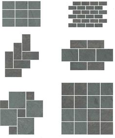 Slate Floor Patterns Could Use W Bricks And Concrete For Patio Herringbone  Pattern