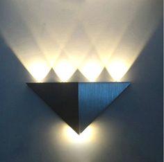 2 X LED-Deko Wand-Lampe Farbe Warmweiss Art Deko-Stiel *Schönes Ambiente*
