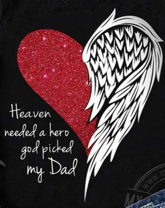 Angel wing and heart tattoo for my Dad who lost his battle with cardiovascular and kidney disease In Loving Memory Tattoos, Name Tattoos For Moms, Dad Tattoos, Tattoos Skull, Tattoos For Daughters, Body Art Tattoos, Heart With Wings Tattoo, Broken Heart Tattoo, My Father Quotes