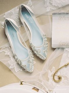 BellaBelleShoe Beautiful Wedding Flats with Opal and Crystal Beading Bridal Shoes - Glass Slipper with 'Something Blue' Bella Belle Willow Winter Wedding Shoes, Wedding Boots, Ivory Wedding, Wedding Flats For Bride, Wedding Hair, Fall Wedding, Rustic Wedding, Best Bridal Shoes, Bridal Flats