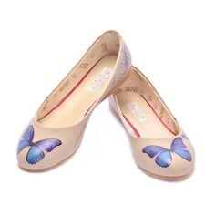 Goby Women's Shoes Elite Ballerinas Blue Butterfly 1000 Balerina, Blue Butterfly, Soft Leather, Ballet Flats, Memory Foam, Footwear, Women's Shoes, Tory Burch, Atlanta