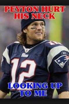 New England Patriots  Tom Brady  Peyton Hurt His Neck