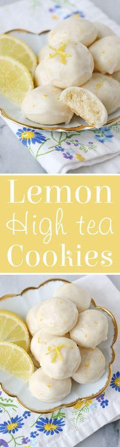 High Tea Cookies - Glorious Treats Lemon High Tea Cookies Recipe - Buttery, flavorful, melt-in-your-mouth delicious!Lemon High Tea Cookies Recipe - Buttery, flavorful, melt-in-your-mouth delicious! Lemon Desserts, Lemon Recipes, Delicious Desserts, Dessert Recipes, Yummy Food, Delicious Cookies, Tea Party Recipes, Tea Party Desserts, Tea Snacks