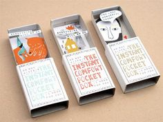 matchbox Kim Welling, an illustrator based in the Netherlands, sells these delightful Instant Comfort Pocket Boxes in her Etsy shop. They're the perfect way to carry a little inspiration in your pocket. Cadeau Surprise, Art Therapy Projects, Matchbox Art, Matchbox Crafts, Up Book, Book Art, Expressive Art, Therapy Activities, Art Activities