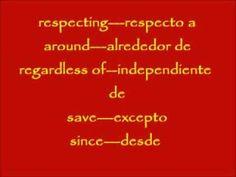 CURSO BASICO DE INGLES # 8. Las Preposiciones del Ingles 2 - Prepositon...