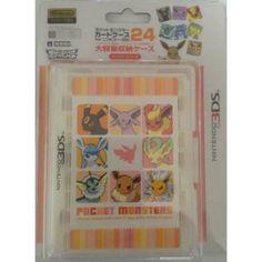 Pokemon Center 2012 Nintendo 3DS/DSiLL/DSi/DS Lite Eevee Espeon Flareon Glaceon Jolteon Leafeon Umbreon Vaporeon Game Cartridge Storage Case