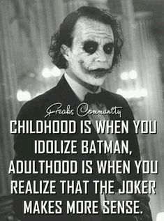 Most memorable quotes from Joker, a movie based on film. Find important Joker Quotes from film. Joker Quotes about who is the joker and why batman kill joker. Check InboundQuotes for Best Joker Quotes, Epic Quotes, Dark Quotes, Badass Quotes, True Quotes, Great Quotes, Motivational Quotes, Inspirational Quotes, Wierd Quotes