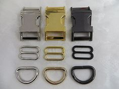 25mm Dog Collar Hardware Kits+ Match color snap hooks- 5 colors 1/'/' 1 Sets