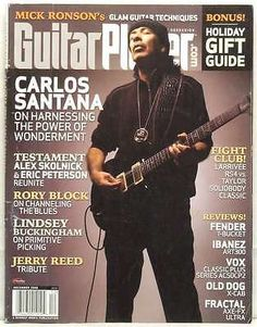 Guitar Player Magazine Carlos Santana Lindsey Buckingham Jerry Reed Mick Ronson