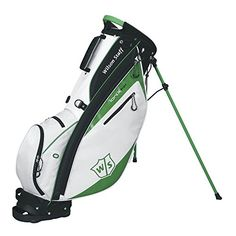 Best Golf Bags | Wilson Staff Ionix Light Bag WhiteGreen 9x7 5way top 2016 Golf ** Details can be found by clicking on the image. Note:It is Affiliate Link to Amazon. #newyork