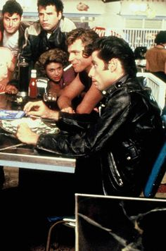 John Travolta and the cast of 'Grease' Grease 1978, Sandy Grease, Movies Showing, Movies And Tv Shows, Grease Is The Word, Grease Live, Danny Zuko, Nct, Vintage