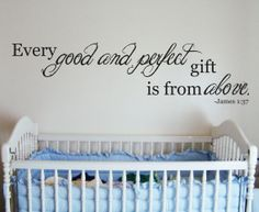 church nursery ideas decor | Good and Perfect Quote Wall Vinyl Decor by ... | Church Nursery Ideas