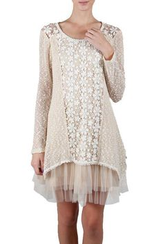 NWT RYU FLOWER CROCHET DETAILED KNIT DRESS CREAM SZ S, M, L | Clothing, Shoes & Accessories, Women's Clothing, Dresses | eBay!