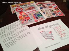 Using shopping ads for auditory comprehension, inferencing, and executive functioning skills - great for carry over and generalization