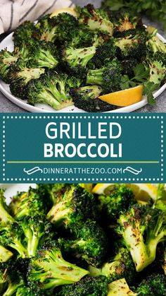 Grilled broccoli is the BEST way to eat your veggies! Grilled Vegetable Recipes, Grilled Vegetables, Grilled Chicken Recipes, Best Grilled Broccoli Recipe, Broccoli On The Grill, Baby Broccoli Recipe, Clean Eating Recipes, Kitchen, Parmesan