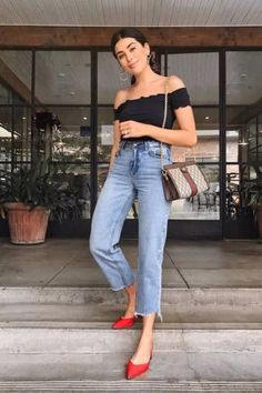 Beste Jeans für Frauen Plus Size Stretch Skinny Jeans - Fashion Outfits Jeans Azul, Jeans Bleu, Mode Outfits, Trendy Outfits, Fashion Outfits, Womens Fashion, Fashion Trends, Jeans Fashion, Easy Outfits