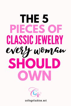 Invest your money for the future while looking amazing today -- here are the classic jewelry pieces everyone should own. #jewelry #classicstyle #timelessstyle #classicjewelry Fashion Articles, Fashion Tips, College Fashion, Styling Tips, Timeless Fashion, The Twenties, Classic Style, Need To Know, Money