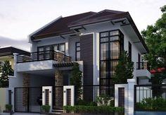 Ideas Modern Contemporary House Exterior Philippines For 2019 Architecture Classique, Architecture Design, Modern House Plans, Modern House Design, Philippines House Design, Philippine Houses, House Ideas, Two Storey House, 3 Storey House Design