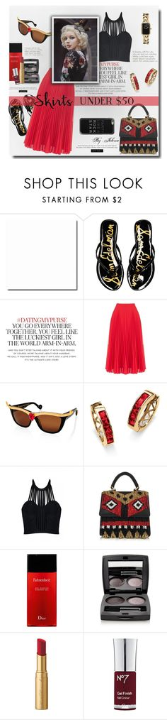 """""""Skirts Under $50"""" by jelenalazarevicpo ❤ liked on Polyvore featuring Sam Edelman, Kate Spade, Oasis, Anna-Karin Karlsson, Palm Beach Jewelry, Posh Girl, Les Petits Joueurs, Chanel, Christian Dior and Chantecaille"""