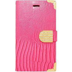 EGC Samsung Galaxy Note Edge Crocodile Wallet - Hot Pink