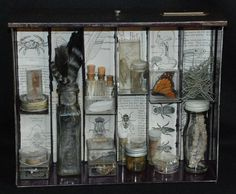 Apothecary Mixed Media Shadowbox Assemblage IV by stevenssteampunk, $250.00