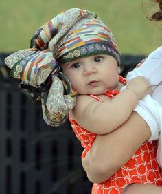 Too Cute Alert: 4-Month Old Penelope Scotland Disick Owns the Trendy Turban Look: Girls in the Beauty Department