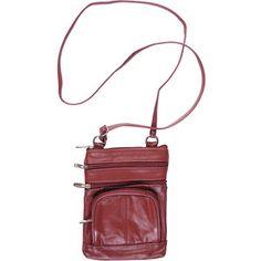 Brinley Co Women's Genuine Leather Multi-pocket Crossbody Bag