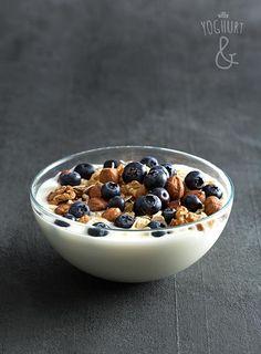 Havregryn+&+Nøtter+&+Blåbær - Se flere spennende yoghurtvarianter på yoghurt.no - Et inspirasjonsmagasin for yoghurt. Breakfast Recipes, Dessert Recipes, Desserts, Frisk, Acai Bowl, Oatmeal, Food And Drink, Yummy Food, Lunch