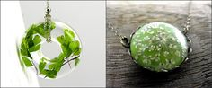 Suze likes, loves, finds and dreams: Giveaway: Real Flower & Real Leaf Necklace