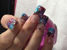stones and acrylic colors by AGAPENAILS - Nail Art Gallery nailartgallery.nailsmag.com by Nails Magazine www.nailsmag.com #nailart