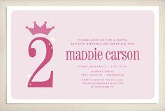 Princess birthday invitation by LeaDelaverisDesign on Etsy, $25.00