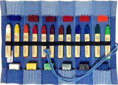 Stockmar craies /à la cire dabeille-Bo/îte de conservation-Lot de 8-Waldorf Assortiment de couleurs