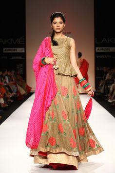 Scarlet Bindi - South Asian Fashion: Lakme Fashion Week Spring/Summer 2013: Day 5: Gaurang: peplum lehenga!