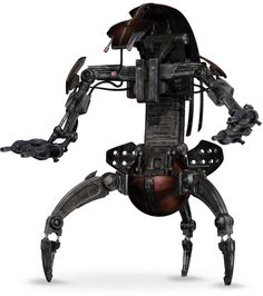 """DROIDEKA / Destroyer Droids DESCRIPTION: word combining the Basic word """"droid"""" with the Colicoid suffix eka, meaning """"hireling"""" or """"drone"""", also called the destroyer droid, wheel droid, roller, or rollies in clone trooper slang, was a type of heavy battle droid used by the Trade Federation and the Confederacy of Independent Systems. It gained a reputation for deadliness over the course of the Clone Wars. Droid commanders such as Grievous favored the droideka for its resilience and firepower."""