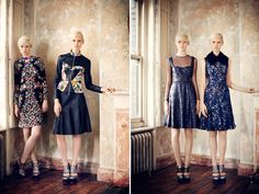 erdem prefall 2013 (via honestlywtf.com); I like the fit-and-flare dress with the sweetheart neckline and sheer top